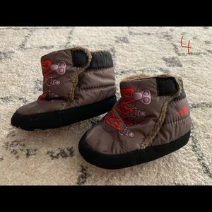 The North Face baby boots size 4